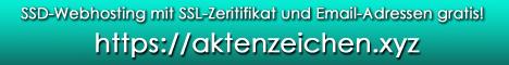 https://aktenzeichen.xyz - SSD-Webhosting mit SSL-Zeritifikat und Email-Adressen gratis!