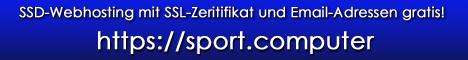 https://sport.computer - SSD-Webhosting mit SSL-Zeritifikat und Email-Adressen gratis!